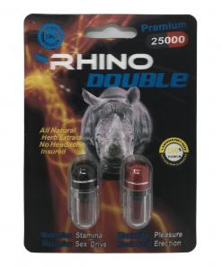 Rhino Double 25000 12 Pill