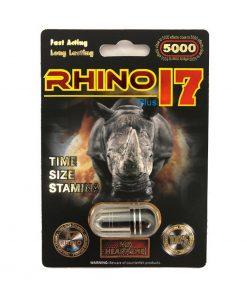 Rhino 17 5000 Plus 5 Pill Pack