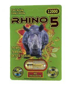 Rhino 5 12000 5 Pill Pack