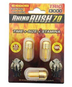 Rhino Rush 70 Trio 13000 6 Pill Pack