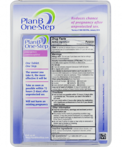Plan B One-Step Emergency Contraceptive Morning After Pill 1 Tablet