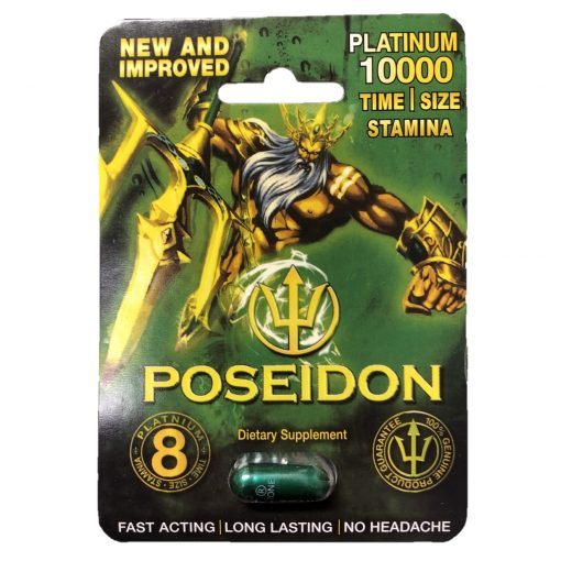 Poseidon Green Platinum 10000 5 Pill Pack