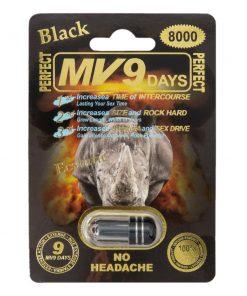 MV9 Black 8000 5 Pill Pack