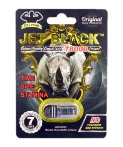 Rhino Jet Black 78000 5 Pill Pack