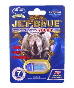 Rhino Jet Blue 78000 5 Pill Pack