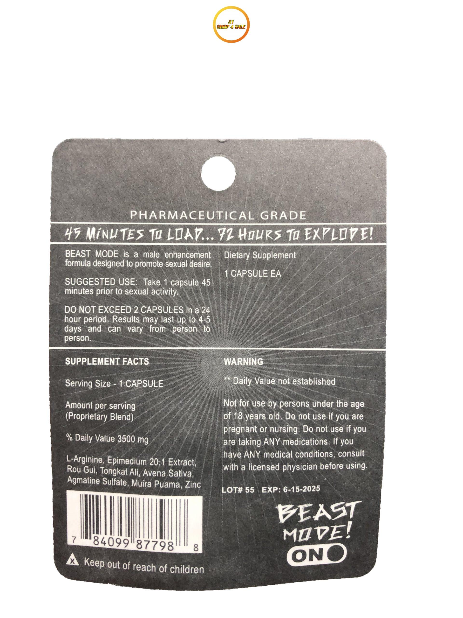 Beast Mode ME-72 3 Pill Pack