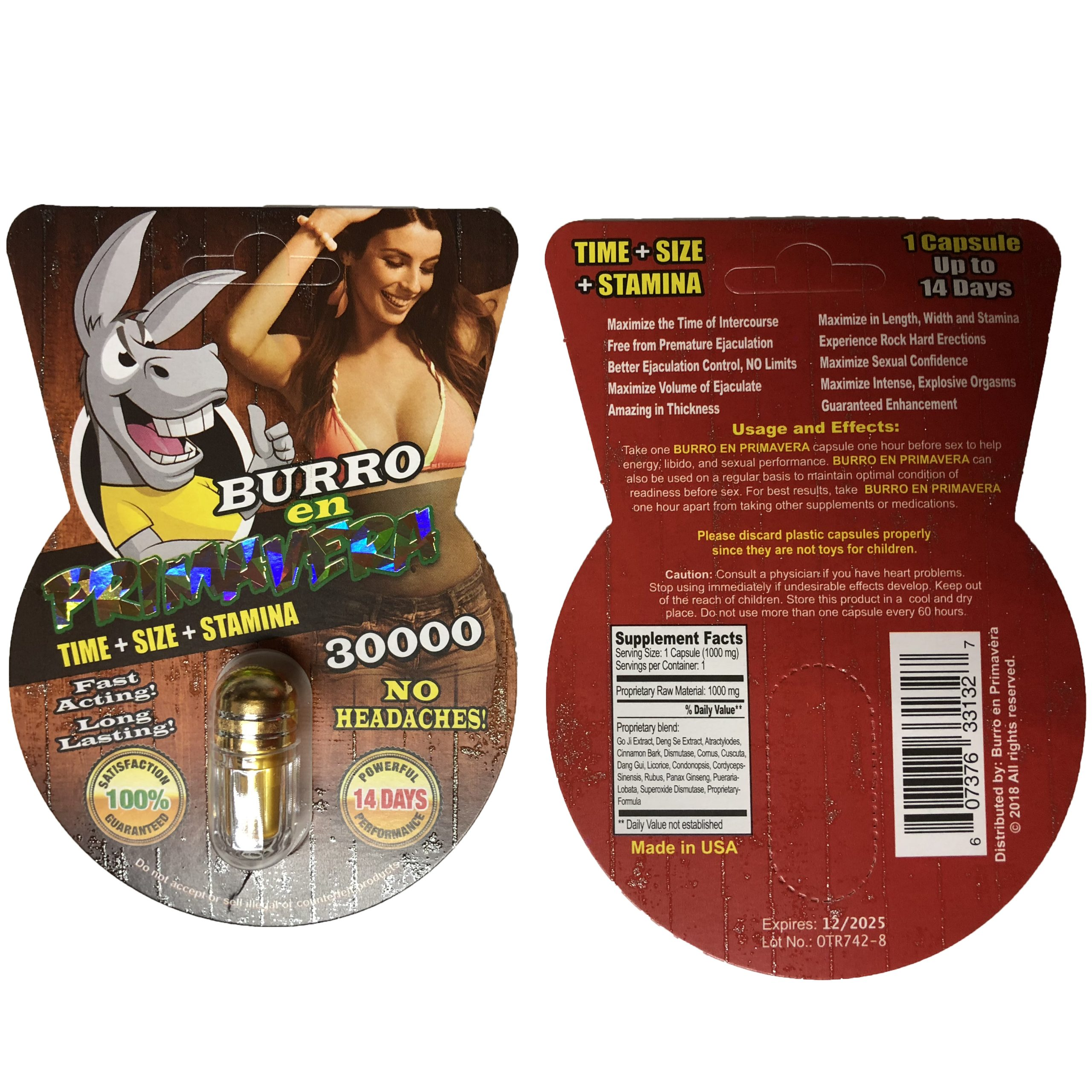 Burro En Primavera 30000 5 Pill Pack