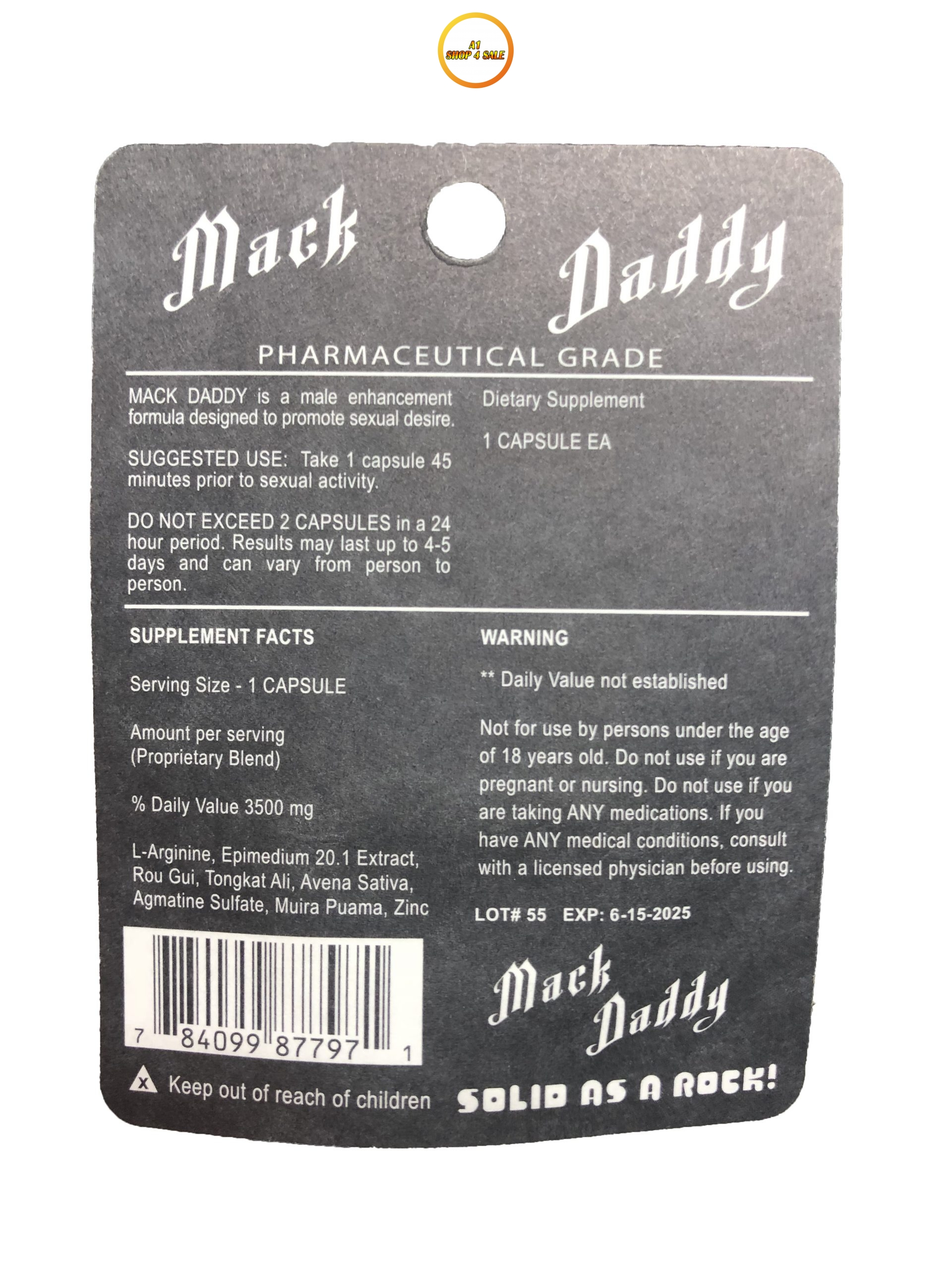 Mack Daddy ME-72 3 Pill Pack
