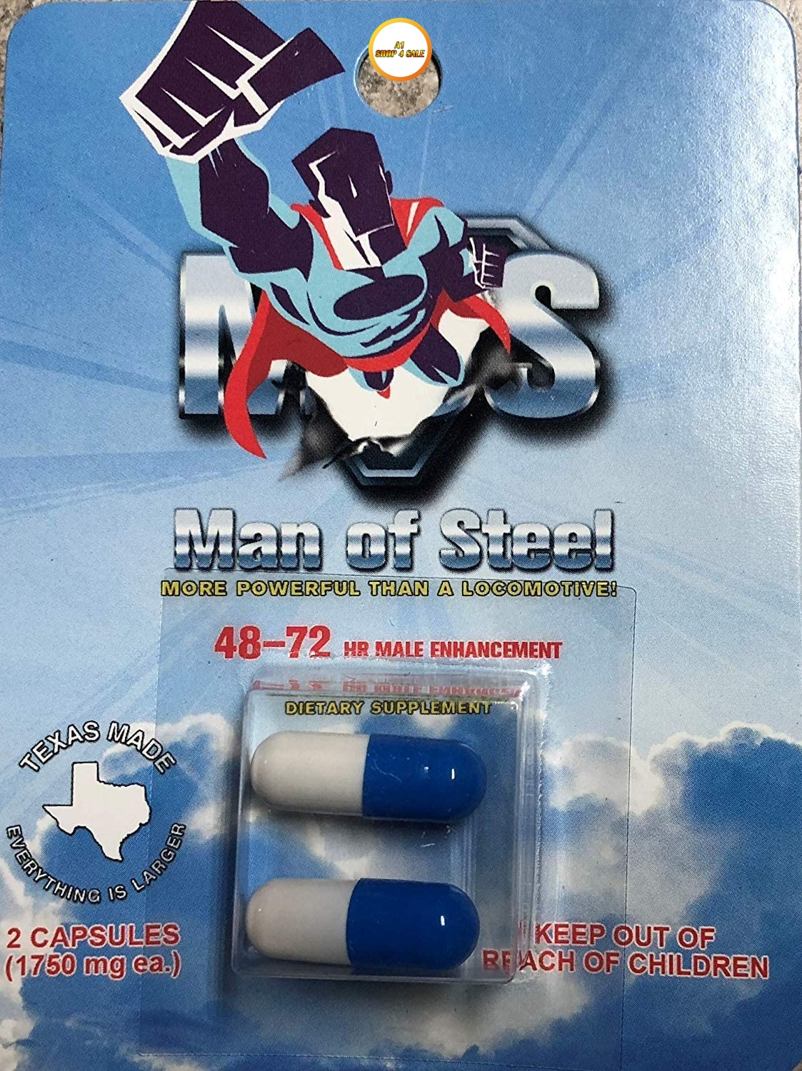 Man Of Steel ME-72 20 Pill Pack