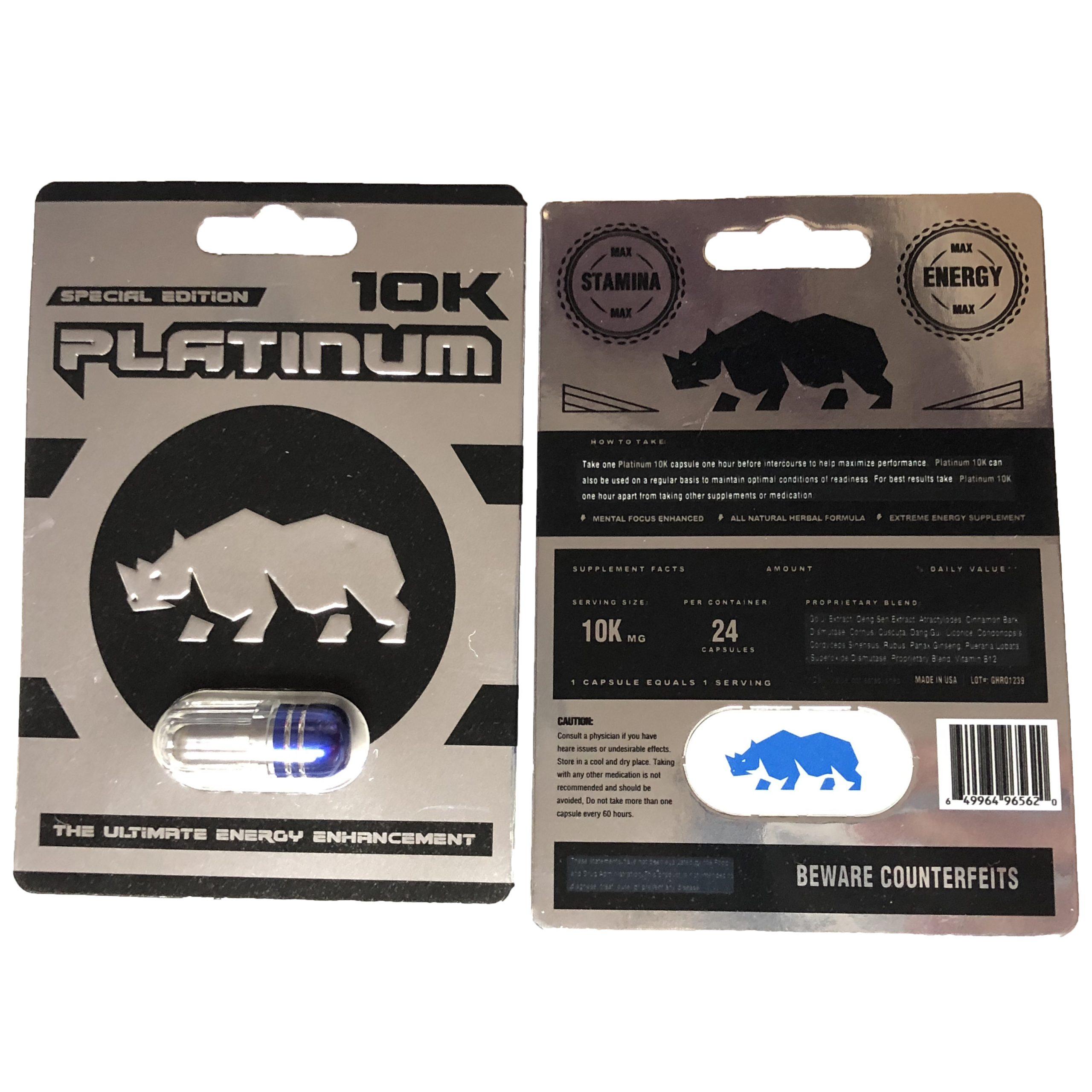 Platinum 10K 5 Pill Pack