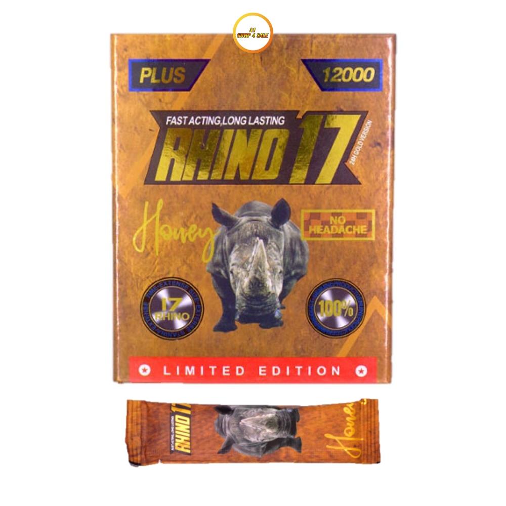 Rhino 17 12000 Honey 5 Sachet Pack
