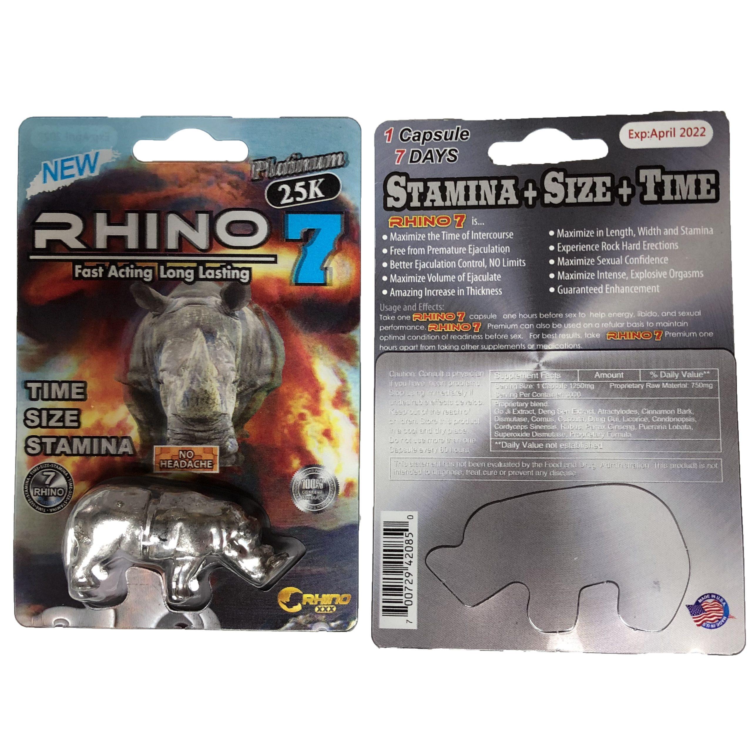 Rhino 77 25000 Toy 5 Pill Pack