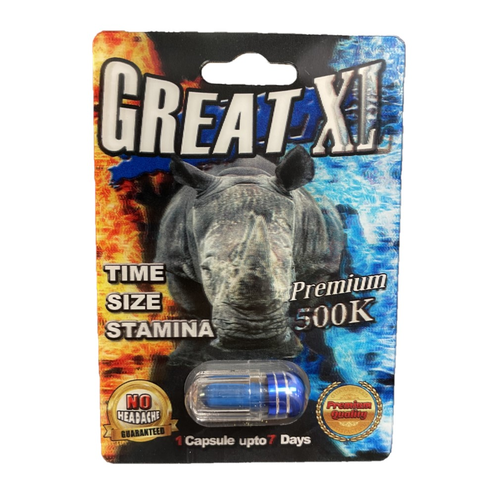 Rhino Great XL 500K 5 Pill Pack