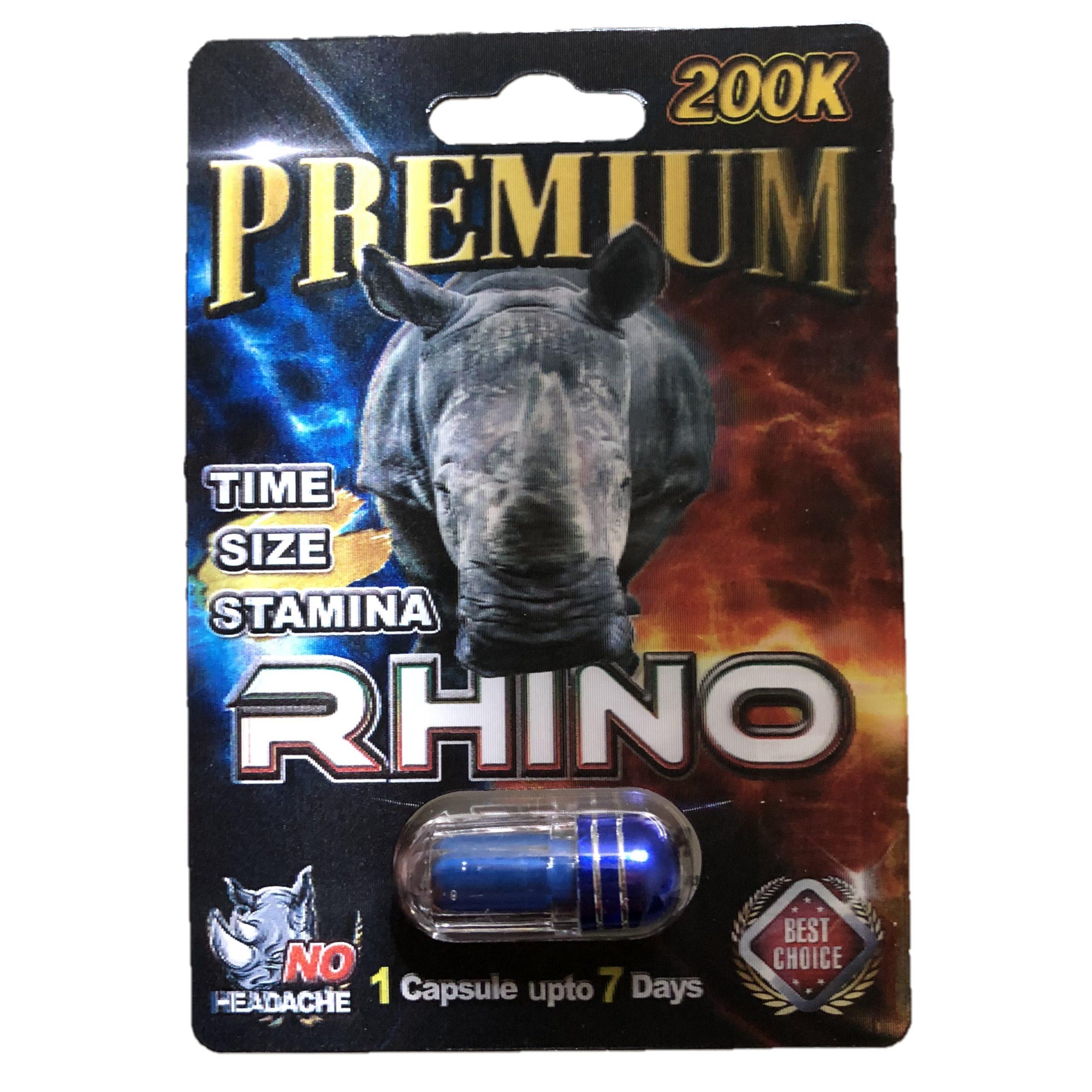 Rhino Premium 200K 5 Pill Pack
